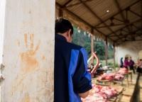 Verkauf von Fleisch vietnamesischer Markt.jpg