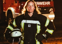 Portraet Feuerwehrfrau