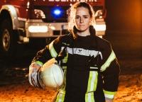 Werbung für Feuerwehrfrauen