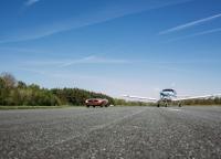 Mustang-meets-plane